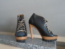 ffc493b37a5 NEW VIC MATIE BLACK LEATHER LACE-UP PLATFORM BOOTIE