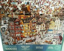 PUZZLE - STREET SCENE - Painting by David Russo -1000 pcs - W.H.Smith  VERY GOOD
