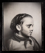 PIRATE MUSTACHE MAKEUP HALLOWEEN COSTUME BOY~ 1930s VINTAGE PHOTOBOOTH PHOTO