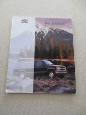 1999 Chevrolet Suburban truck advertising booklet - Chev