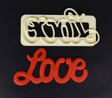 FMM curved words Love Cutter Sugarcraft Cake Decorating   Fast Despatch