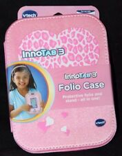 Vtech InnoTAB 3 Folio Case Pink w/ Hearts Model# 80-213550