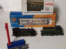 ★★★Lot Train électrique Wagons Jouef HO/ 2 locos  2 wagons★★★
