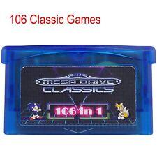 1pcs Ersetzen GBA 106 in 1 Spiele Classic Games Sega Master Game Micro Teil Fall