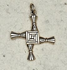 "CROSS OF ST . BRIGID  NECKLACE ""BRONZE"""