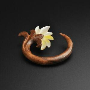 Wooden Spiral | Sono Wood Spiral With MOP Flower Carving | SIBJ Quality