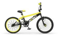 BICICLETTA 20 BMX INSTINCT MBM BICI FREESTYLE GIALLO ELETTRICO E NERO BIKE