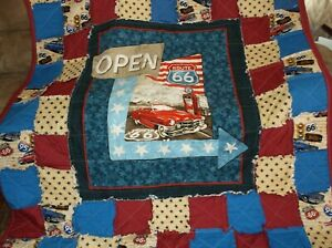 Classic Route Sixty Six Rag Quilt, Nice Colors