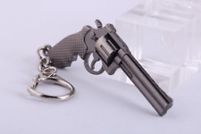 REVOLVER Smith & Wesson Military Stainless steel Big car Keychain Key ring chain