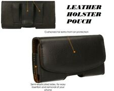HOLSTER POUCH Leather Pouch Case with Belt Clip & Loop for Apple iPhone Models