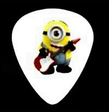 MINION PLAYING GUITAR FULL COLOR GUITAR PICK ROCK ON LITTLE MINION - ROCK ON
