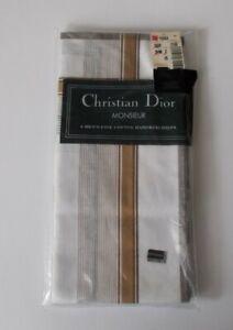 Christian Dior MONSIEUR Pack of 6 pieces MEN'S FINE COTTON Handkerchiefs NWT