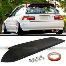 Fit 92-95 Civic 3DR Hatchback Duckbill Spoon Glossy Black Rear Spoiler Wing