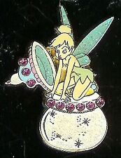 Disney Pin TINKERBELL FAIRY PIXIE on JEWELLED INKWELL  MOC