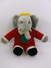 "Babar Elephant King Plush Stuffed Animal 14"" Gund"