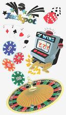 Casino Roulette Chips Dice Craps Poker Jackpot Slots Vegas Jolee's 3D Stickers