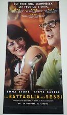 Locandina Film LA BATTAGLIA DEI SESSI (2017) Poster Movie Original Cinema 33x70