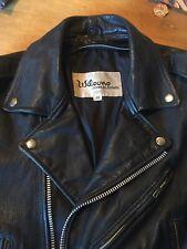 Vintage Wilsons Leather Biker Jacket 42 YKK Punk Motorcycle Ramones