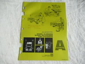 1966 Alemite wheel aligner tire changers catalog brochure