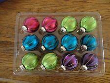 Multi Colored Small Glass Christmas Tree Ornaments Balls Elegant Fragile