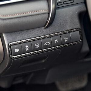 Carbon Fiber Interior For Toyota Camry 2018-2020 Trunk Switch Frame Cover Trim