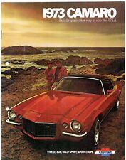 Chevrolet Camaro 1973 USA MARKET sales brochure Sport Coupé LT z28 Rally Sport