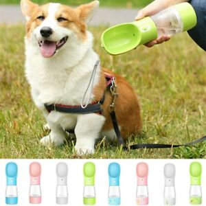 Portable Pet Dog Cat Water Bottle Feeder Drinking Travel Outdoor Water Dispenser