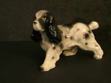 Dog Figurine Japan Vintage Spaniel English Spaniel Black & White Cute Puppy!