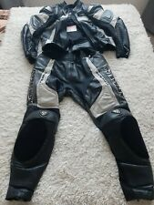 Arlen Ness Titanium Motorcycle 2 Piece Leather Suit Size 42