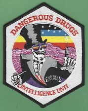 DEA DANGEROUS DRUGS INTELLIGENCE UNIT POLICE PATCH