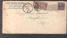 1939 special delivery cover The White House Black Horse Cecil/Hammonton NJ to VA
