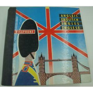 VISAPHONE cours d'anglais - 2 livres + 9 disques GUILLAUME BERGER 1958