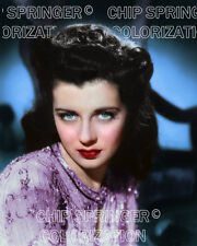 GAIL RUSSELL Sparkle Dress #5 1942 | Sexy 8x10 COLOR PHOTO BY CHIP SPRINGER