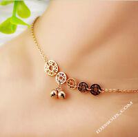 14K Goldkette Armkette Fußkette Münze Damen vergoldet für Frauen Sommer Schmuck