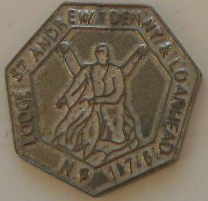 MASONIC MARK TOKEN PENNY LODGE ST ANDREW 176 SILVER COLOUR