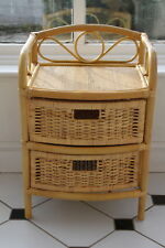 Cane and Rattan Set of 2 Drawers- Ideal to go with Conservatory Furniture