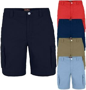 Mens Cargo Shorts Combat westAce Chino Half Pants 100% Cotton Work Wear Casual