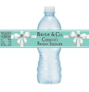 12 Tiffany & Co Blue Birthday Party Baby Bridal Shower Water Bottle Stickers