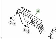 More details for genuine john deere r47rkb roller lawnmower sa817 grass deflector sa36193