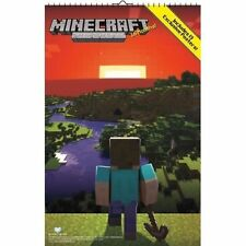 2014 JINX MOJANG MINECRAFT OVERSIZED CALENDAR 13 EXCLUSIVE POSTERS NEW FREE SHIP