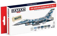 Hataka Hobby AS30 USAF Aggressor Squadron F15/F16 Fleet Paint Set Vol.2