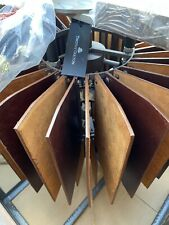 Timothy Oulton Leather Chandelier Rowdy Brown Fan Shape RRP £2800