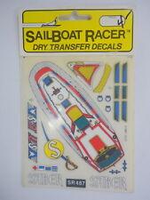 SABER SR487 SAILBOAT RACER DRY TRANSFER DECALS, 1987