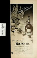 1957 Benedictine La Grande Liqueur Francaise Vintage Print Ad 6698