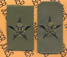 US Army GS General Staff Branch Officer Insignia sew on patch set
