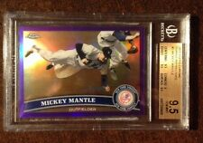 MICKEY MANTLE SP 2011 Topps Chrome PURPLE REFRACTOR  #177/499  BGS 9.5 GEM MINT