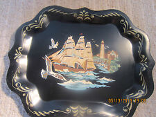 Nautical Decor, Painted, Metal Serving Tray