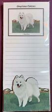 American Eskimo Notepad and Wood Magnet