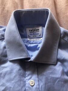 Mens Shirt TM Lewin 15 Slim Fit Men's Blue