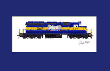 "Dakota, Minnesota & Eastern SD40-2 6359 11""x17"" Matted Print Fletcher signed"